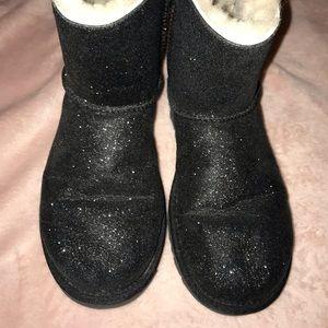 Black Glitter Ugg Boots